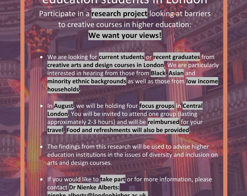 AccessHE Arts and Design Research Project