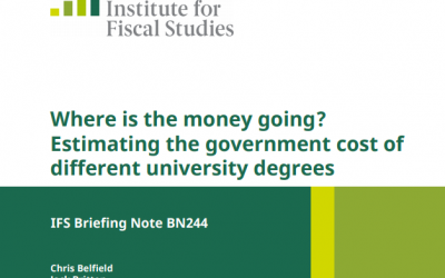 IFS report on the government cost of different degrees